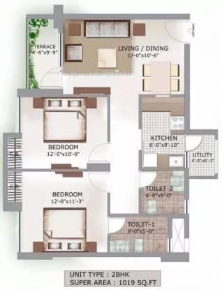 1019 sqft, 2 bhk Apartment in 3C Lotus Boulevard Sector 100, Noida at Rs. 53.0000 Lacs