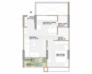 695 sqft, 1 bhk Apartment in Builder Project Nipania, Indore at Rs. 11000
