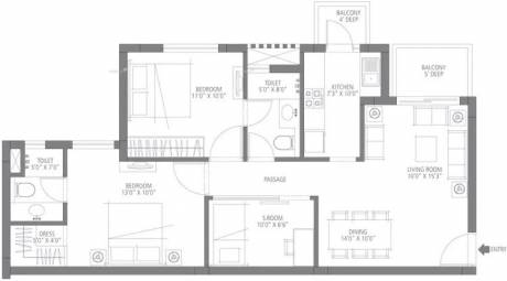 1020 sqft, 2 bhk Apartment in Emaar Emerald Estate Sector 65, Gurgaon at Rs. 75.9000 Lacs