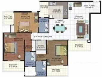 1970 sqft, 3 bhk Apartment in Ramprastha Platinum Premier Sector 7 Vaishali, Ghaziabad at Rs. 1.2500 Cr