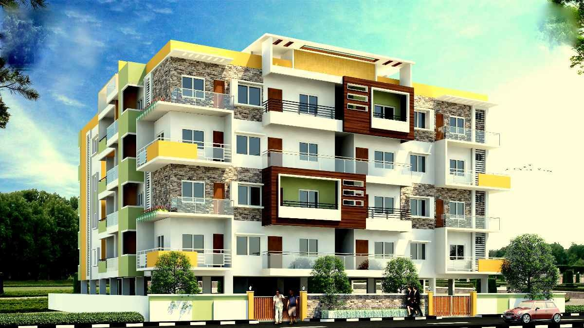 1095 Sqft, 2 Bhk Apartment In Builder Swasthik Nayana Residency  Mallathahalli, Bangalore At Rs