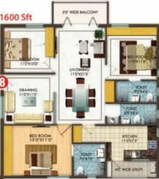 1600 sqft, 3 bhk Apartment in Aditya Empress Towers Shaikpet, Hyderabad at Rs. 92.0000 Lacs
