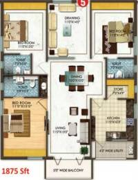 1875 sqft, 3 bhk Apartment in Aditya Empress Towers Shaikpet, Hyderabad at Rs. 1.0700 Cr