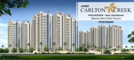 1380 sqft, 3 bhk Apartment in Jain Carlton Creek Manikonda, Hyderabad at Rs. 78.0000 Lacs