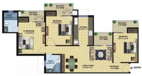 1555 sqft, 3 bhk Apartment in Paramount Golfforeste Zeta, Greater Noida at Rs. 50.0000 Lacs