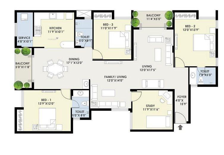 3060 sq ft 4BHK 4BHK+3T (3,060 sq ft) + Study Room Property By Mercury Housing and Properties In Surabhi, Kilpaukkam