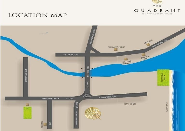 2235 sq ft 3BHK 3BHK+3T (2,235 sq ft) + Study Room Property By Mercury Housing and Properties In Quadrant, Adyar