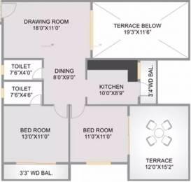 1050 sqft, 2 bhk Apartment in Abhijit Jayanti Nagari 4 Besa, Nagpur at Rs. 13000