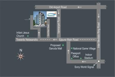 930 sqft, 2 bhk Apartment in Aithena Mannat Koramangala, Bangalore at Rs. 47.4300 Lacs