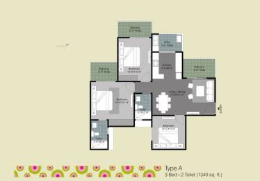 1340 sqft, 3 bhk Apartment in Gulshan Ikebana Sector 143, Noida at Rs. 68.0000 Lacs
