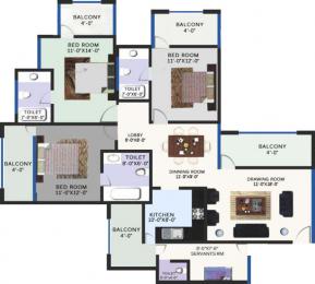1675 sqft, 3 bhk Apartment in Revanta Smart Residency Zone L Dwarka, Delhi at Rs. 50.2500 Lacs