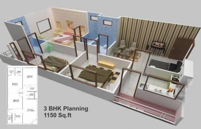 1150 sqft, 3 bhk Apartment in Builder Project Mahalakshmi Nagar, Indore at Rs. 12000