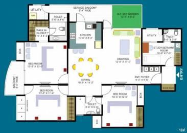 1750 sqft, 3 bhk Apartment in Designarch Gardenia e Homes Sector 5 Vaishali, Ghaziabad at Rs. 1.2600 Cr