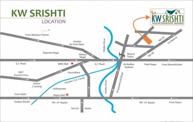 1130 sqft, 2 bhk Apartment in K World Estates Builders KW Srishti Raj Nagar Extension, Ghaziabad at Rs. 37.5000 Lacs