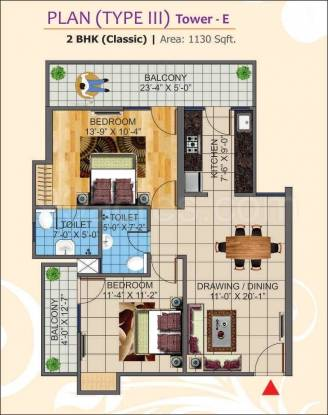 1130 sqft, 2 bhk Apartment in K World Estates Builders KW Srishti Raj Nagar Extension, Ghaziabad at Rs. 37.5000 Lacs