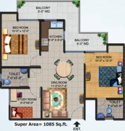 1085 sqft, 2 bhk Apartment in Ajnara Homes Sector 16B Noida Extension, Greater Noida at Rs. 39.0000 Lacs