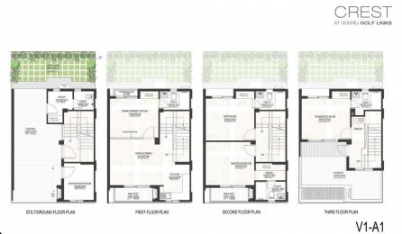 2359 sqft, 4 bhk Villa in Godrej Crest PI, Greater Noida at Rs. 1.2500 Cr