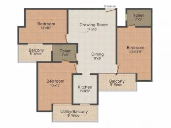 1290 sqft, 3 bhk Apartment in Ajnara Homes Sector 16B Noida Extension, Greater Noida at Rs. 43.0000 Lacs