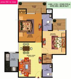 885 sqft, 2 bhk Apartment in SCC SCC Sapphire Raj Nagar Extension, Ghaziabad at Rs. 26.0000 Lacs