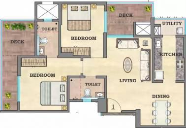 1225 sqft, 2 bhk Apartment in Hubtown Sunstone Bandra East, Mumbai at Rs. 95000