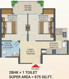 675 sqft, 2 bhk Apartment in Migsun Migsun Roof Raj Nagar Extension, Ghaziabad at Rs. 13.7550 Lacs