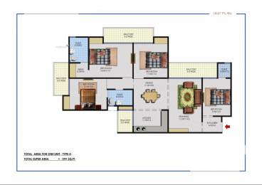 1894 sqft, 4 bhk Apartment in KBNOWS Apartments Sector 16 Noida Extension, Greater Noida at Rs. 62.8740 Lacs