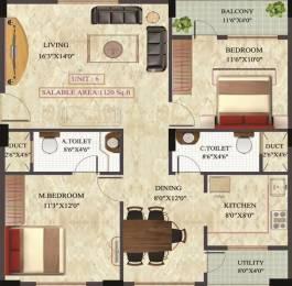 1120 sqft, 2 bhk Apartment in Unitech Greens Junnasandra, Bangalore at Rs. 52.0000 Lacs