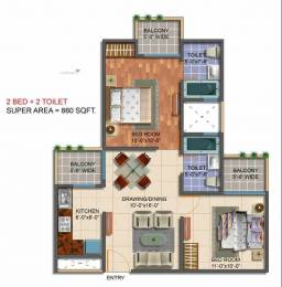 860 sqft, 2 bhk Apartment in Saviour Green Arch Techzone 4, Greater Noida at Rs. 33.0000 Lacs