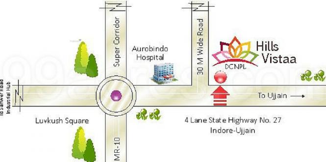 2414 sqft, 4 bhk Apartment in DCNPL Hills Vistaa Super Corridor, Indore at Rs. 71.4200 Lacs