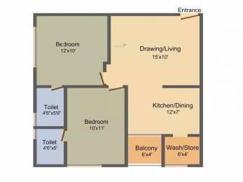 610 sqft, 2 bhk Apartment in Rajyash Reyansh Vasna, Ahmedabad at Rs. 12000