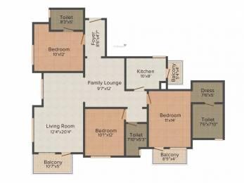 1750 sqft, 3 bhk Apartment in Emaar The Views Manak Majra, Mohali at Rs. 63.0003 Lacs