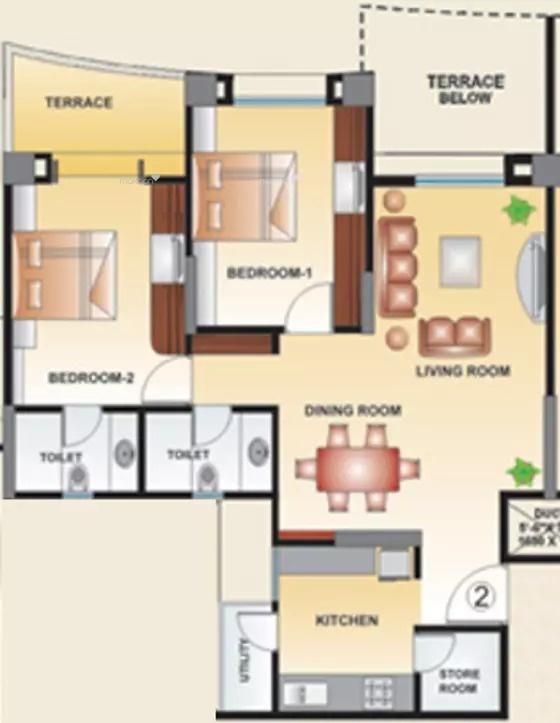 1250 sq ft 2BHK 2BHK+2T (1,250 sq ft) Property By Raviraj Real Estate In Arena, Balewadi