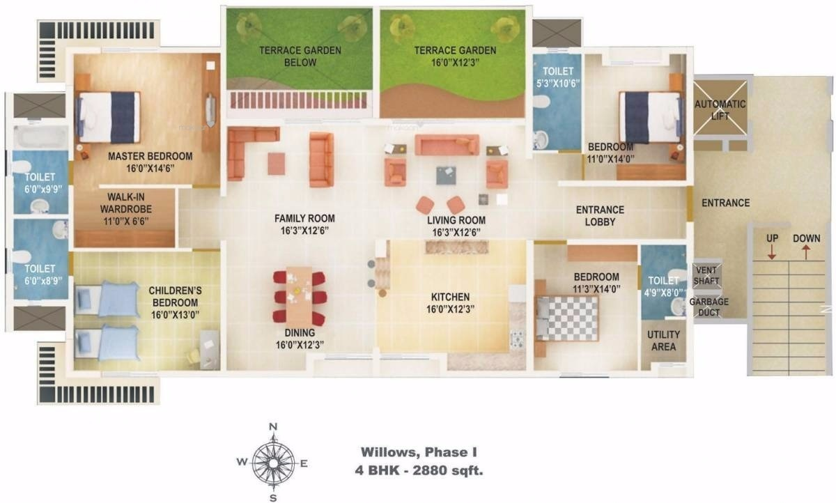 2880 sq ft 4BHK 4BHK+4T (2,880 sq ft) Property By Raviraj Real Estate In Willows, Baner