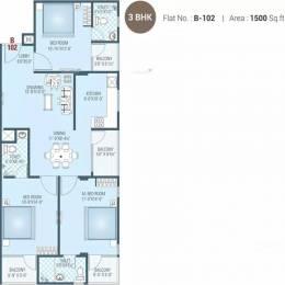 1500 sqft, 3 bhk Apartment in Aradhana Bhavyaa Glory Jagatpura, Jaipur at Rs. 11500