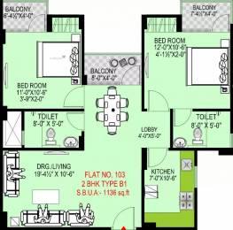 1136 sqft, 2 bhk Apartment in Okay Plus Venus Jagatpura, Jaipur at Rs. 37.0000 Lacs