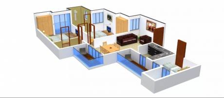 1200 sqft, 2 bhk Apartment in Urbtech Xaviers Sector 168, Noida at Rs. 60.0000 Lacs