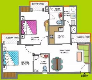 1045 sqft, 2 bhk Apartment in Paramount Floraville Sector 137, Noida at Rs. 13000