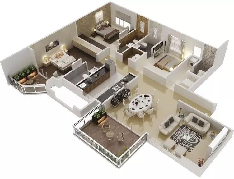 2500 sq ft 3BHK 3BHK+4T (2,500 sq ft) + Servant Room Property By National Properties In Konark Vista, Hadapsar