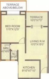689 sqft, 1 bhk Apartment in Vaishnavi Sahil Heights Pimple Nilakh, Pune at Rs. 49.5000 Lacs