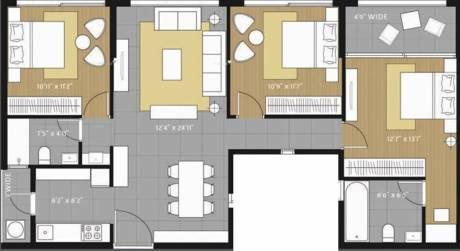 1365 sqft, 3 bhk Apartment in Amanora Future Towers Hadapsar, Pune at Rs. 1.0500 Cr