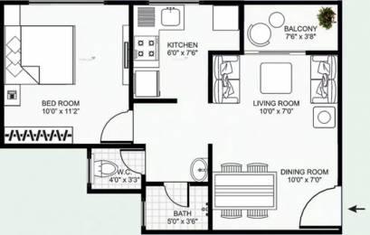 625 sqft, 1 bhk Apartment in Mirchandani Shalimar Swayam Sukliya, Indore at Rs. 15.0000 Lacs