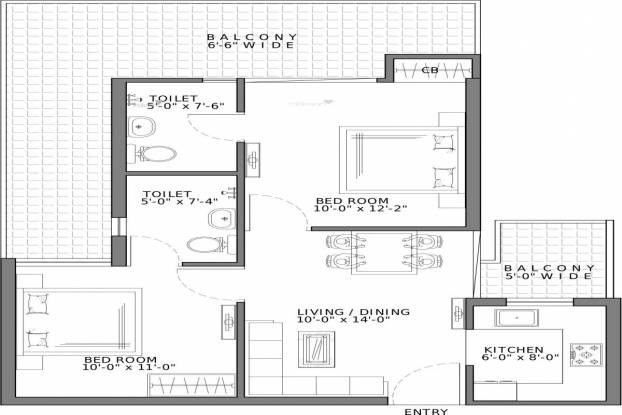 1075 sqft, 2 bhk Apartment in Gaursons 7th Avenue Sector 4 Noida Extension, Greater Noida at Rs. 12000