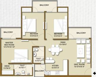 1440 sqft, 3 bhk Apartment in Panchsheel Hynish Sector 1 Noida Extension, Greater Noida at Rs. 40.4928 Lacs