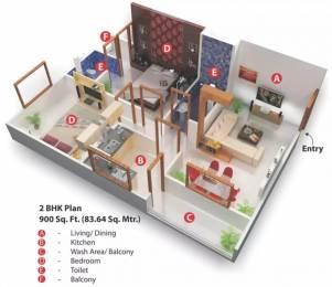 900 sqft, 2 bhk Apartment in Nariman Nariman Point Mahalakshmi Nagar, Indore at Rs. 23.0000 Lacs