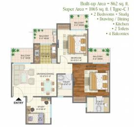 1065 sqft, 2 bhk Apartment in Arihant Arden Sector 1 Noida Extension, Greater Noida at Rs. 38.6000 Lacs