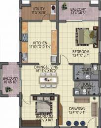 1517 sqft, 2 bhk Apartment in BPR Pearl Celestial Kokapet, Hyderabad at Rs. 54.6120 Lacs