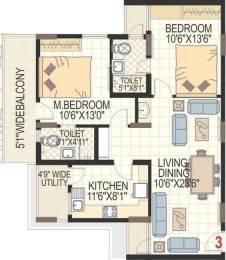 1340 sqft, 2 bhk Apartment in SMR Vinay Harmony County Bandlaguda Jagir, Hyderabad at Rs. 45.5600 Lacs