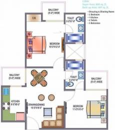 860 sqft, 2 bhk Apartment in Saviour Green Arch Techzone 4, Greater Noida at Rs. 28.8100 Lacs