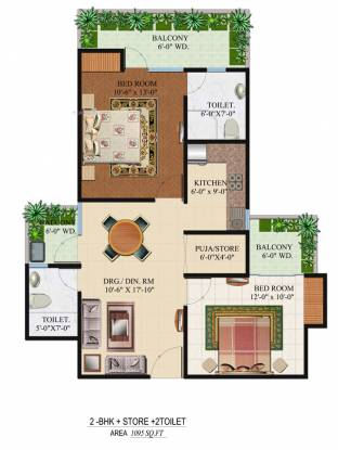 1095 sqft, 2 bhk Apartment in Builder Omkar Royal Nest Tech Zone 4 Greater Noida Wes, Noida at Rs. 36.1300 Lacs