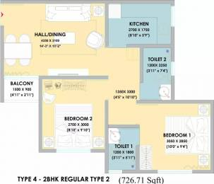 726 sqft, 2 bhk Apartment in VBHC Palmhaven II Kumbalgodu, Bangalore at Rs. 33.8584 Lacs